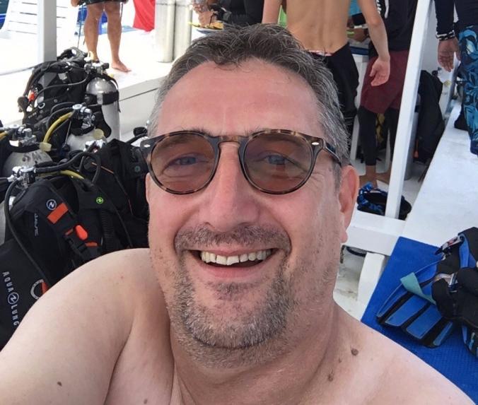 stolzer Selfie in der Pause