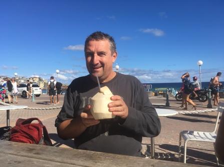 Frischen Kokosnusssaft gab es auch in Australien