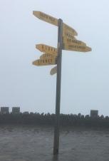 Entfernungsschilder Cape Reinga (Norden)