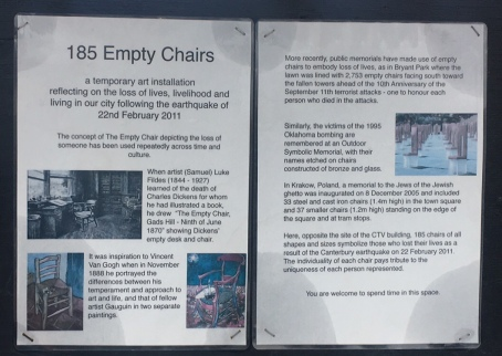 Info zur Installation Leere Stühle