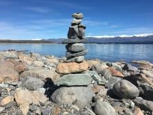 Steinturm am Lake Pukaki