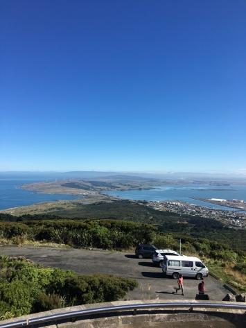 Aussicht von Bluff (südliches Ende Neuseelands)