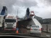 Auffahrt auf die Fähre von Picton nach Wellington