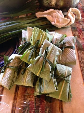 Vorbereitete Tamalepäckchen