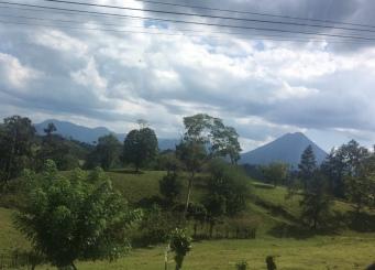 In Sichtweite zum Vulkan Arenal