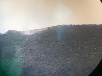 Hier sieht man eine echte Rauchwolke aus dem Arenal