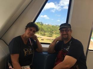 Claudia und Jörg im Metromover
