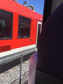 O-Train Zugbegegnung