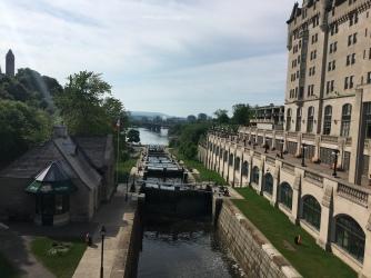 Schleuse vom Rideau Kanal zum Ottawa River