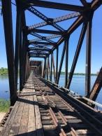 Prinz von Wales Eisenbahnbrücke zwischen Bayfield in Ottawa und Hull in Gatienau